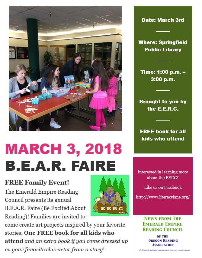 The 2018 B.E.A.R. Faire March 3rd 2018 at the Springfield Library